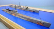 Imperial Japanese Navy submarines I-27 and I-21, 1:350