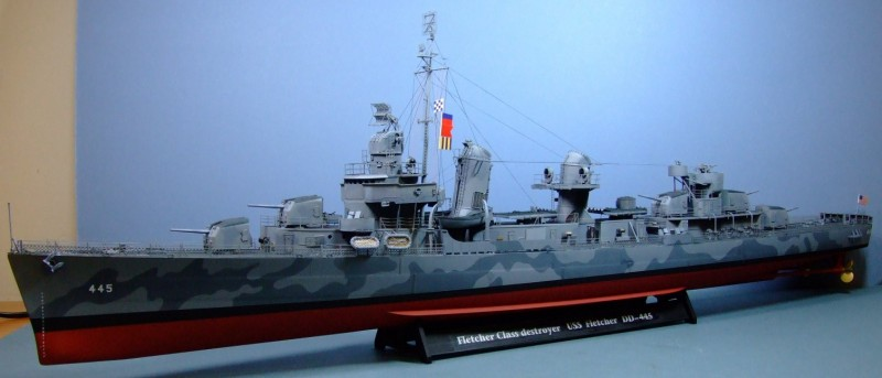 USS Fletcher, DD445, US Navy, 1:144