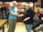 Jim Potts recieving Model of the Year award