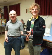 Richard recieving the Members Trophy