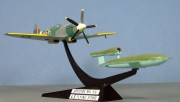 Spitfire XIV and V1 flying bomb, Frog, 1:72