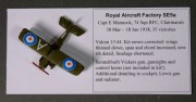 Royal Aircraft Factory SE5a, 1:144
