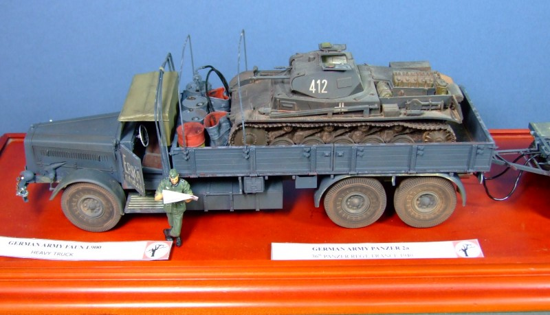 Faun L900 and Panzer IIa, 1:35
