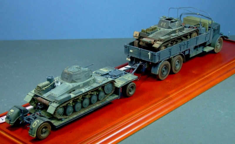 Faun L900, SdAH. 115 trailer and 2x Panzer IIa, 1:35