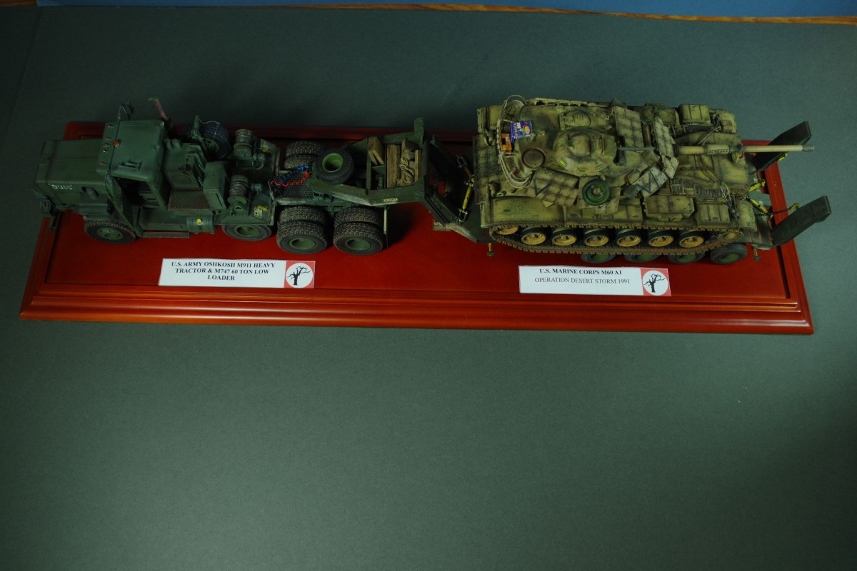 US Army Oshkosh M911 Tracor + M747 Low Loader + USMC M60A